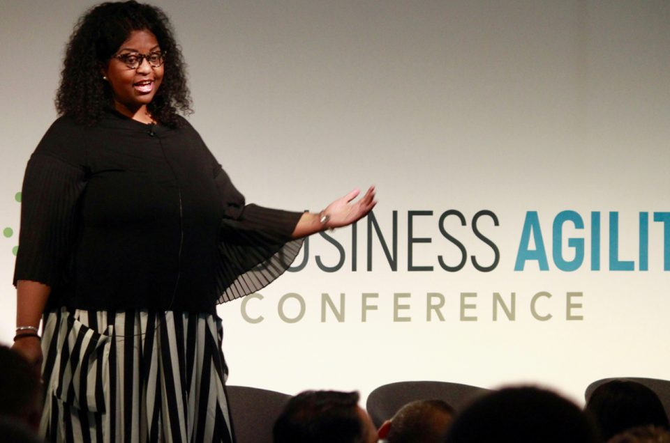Lisa Smith at the Agile Business Conference